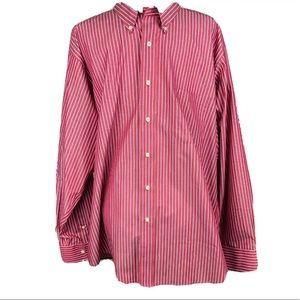 CHAPS Men's Striped Button Down Shirt 17 1/2 34/35